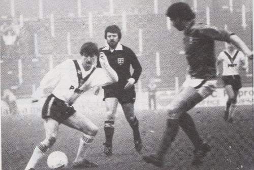 John Rudge's first signing for Port Vale - Kevin Young - in action