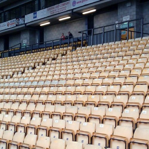 Seats in Vale Park's Lorne Street stand
