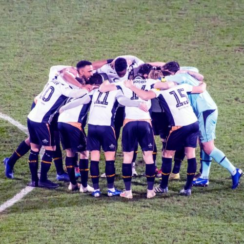 Port Vale team huddle