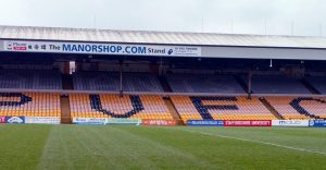 The Railway stand at Vale Park
