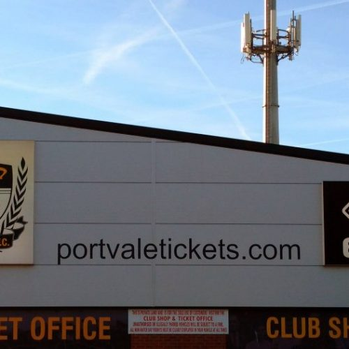 The ticket office at Vale Park