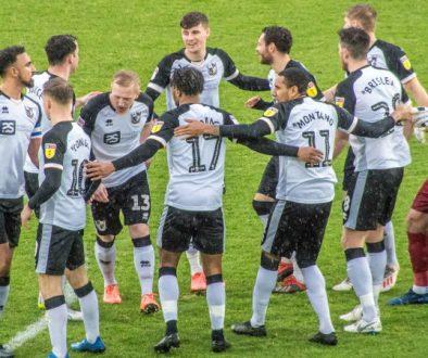 Port Vale team huddle