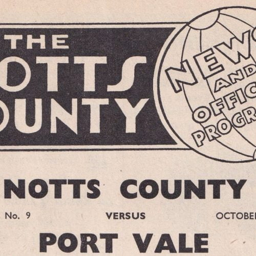 Notts County v Port Vale, 1960