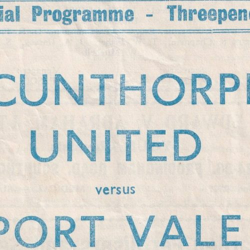 Scunthorpe United v Port Vale 1960