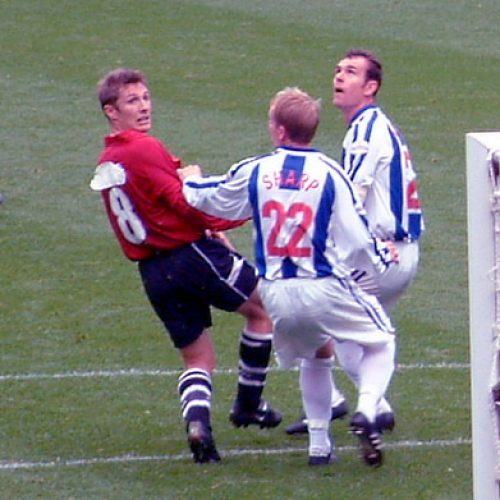 Port Vale pay in a red kit at Huddersfield Town