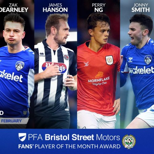 PFA League Two player of the year nominees - February