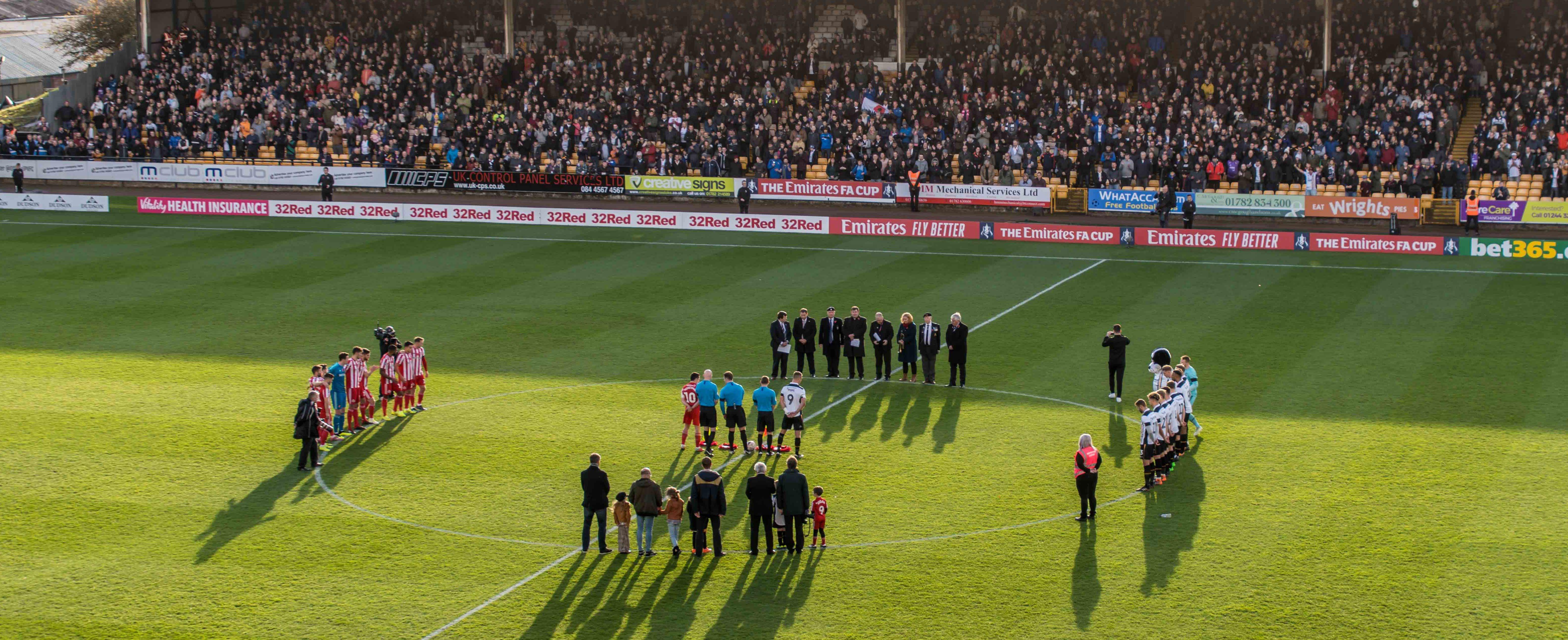 Port Vale v Sunderland minute's silence 2018