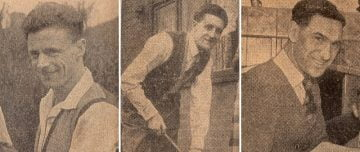 Port Vale Iron Curtain side at home - Ken Griffiths, Roy Sproson, Tom Cheadle