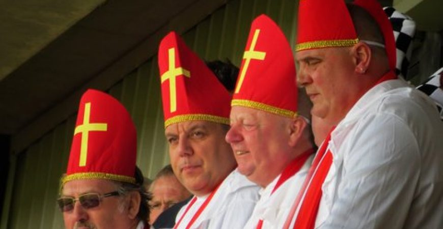 Port Vale fans as Popes