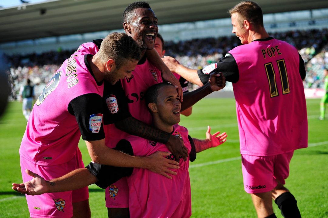 The Port Vale pink kit in 2012.