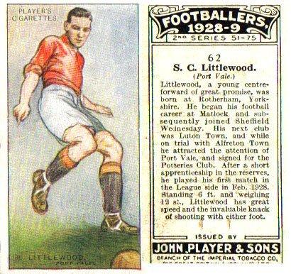 Stewart LIttlewood cigarette card