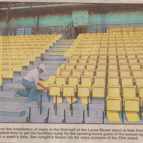 Lorne Street stand seats, 1999