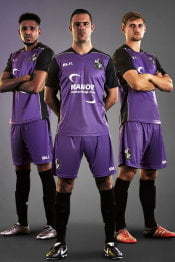 Purple away kit 2018