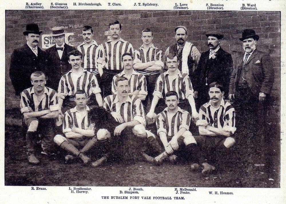 Port Vale 1898-99 team photo