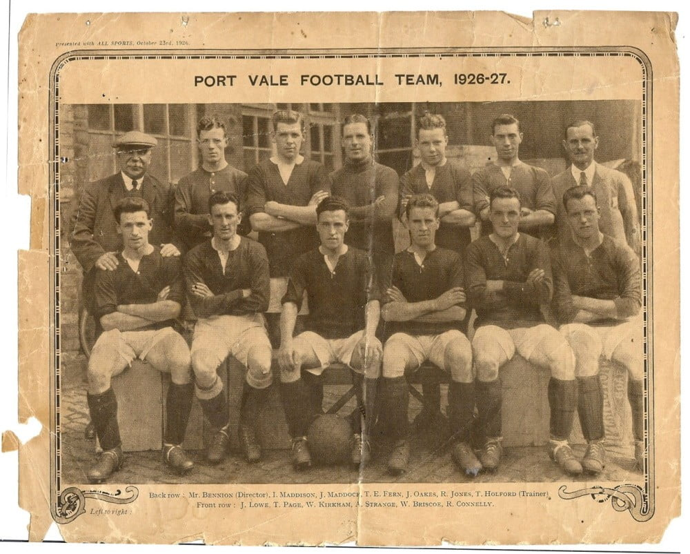 Port Vale 1926-27 team photo
