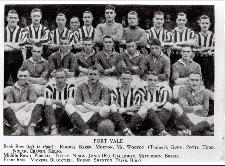 Port Vale 1934-35 team line-up