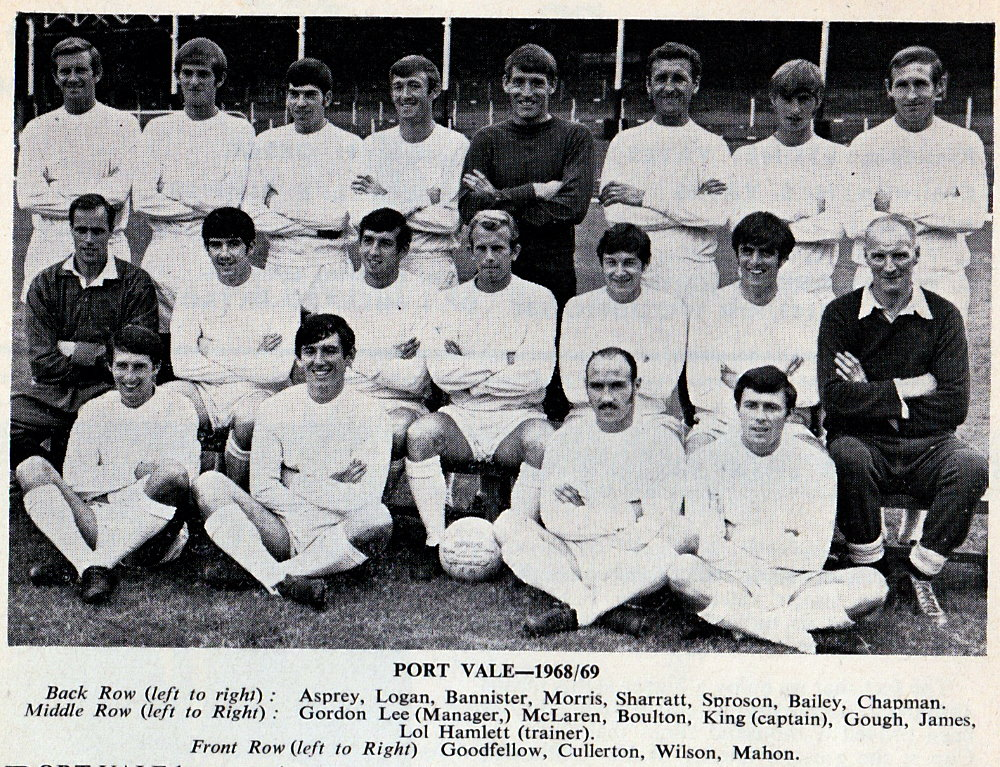 Port Vale 1968-69 team photo