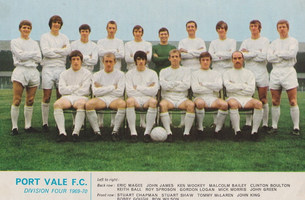Port Vale 1969-70 team line-up