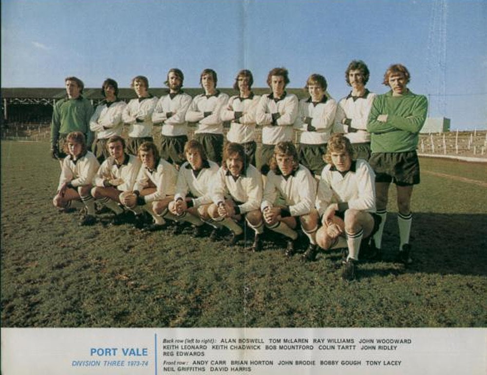 Port Vale 1973-74 team photo