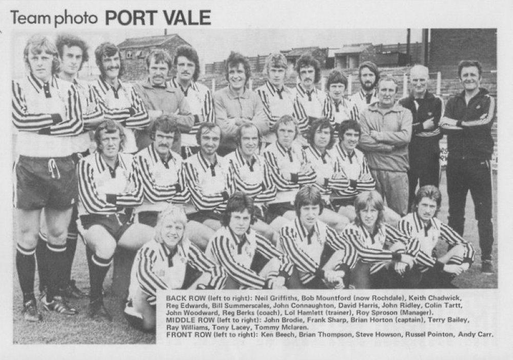 Port Vale 1975-76 team photo