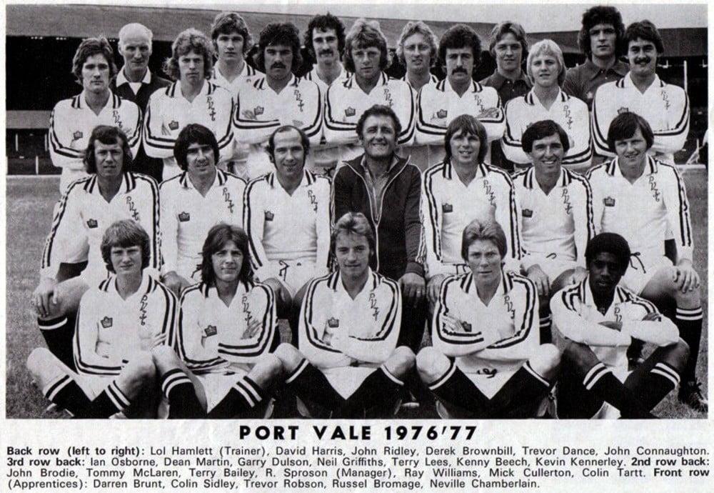 Port Vale 1976-77 team line-up