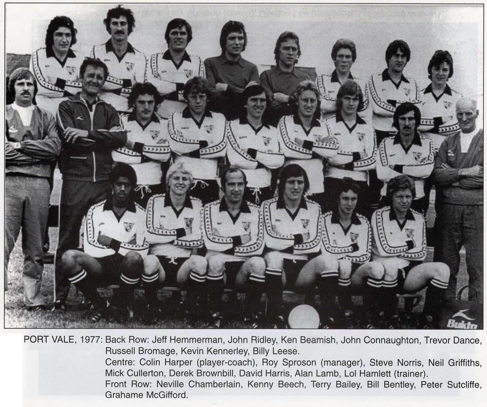 Port Vale 1977-78 team photo