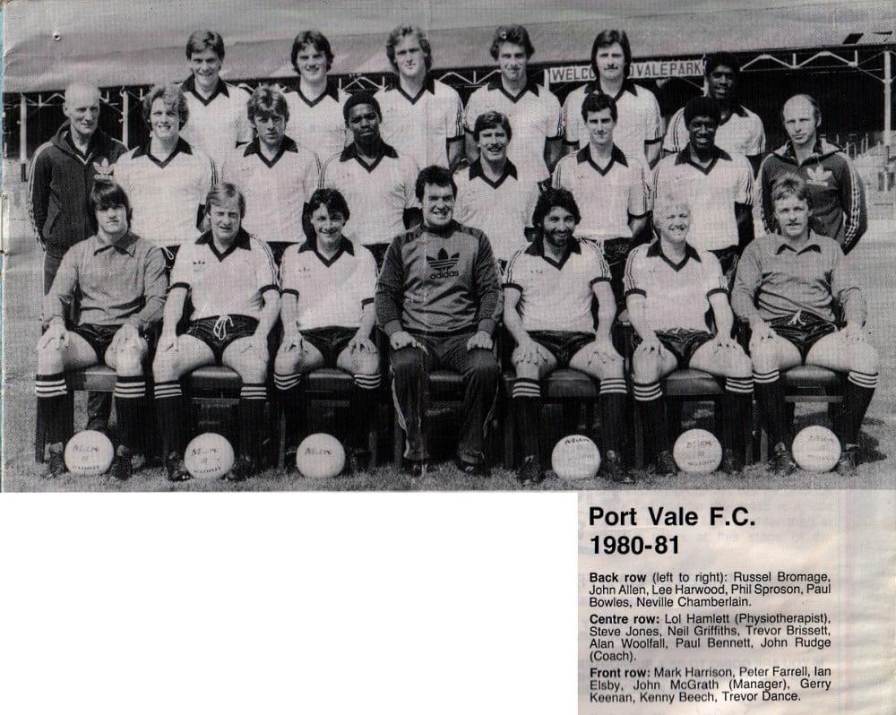 Port Vale 1980-81 team photo