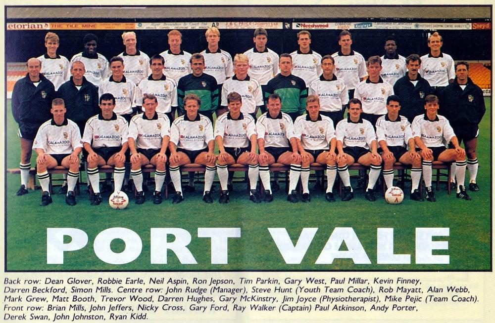 Port Vale 1990-91 team photo