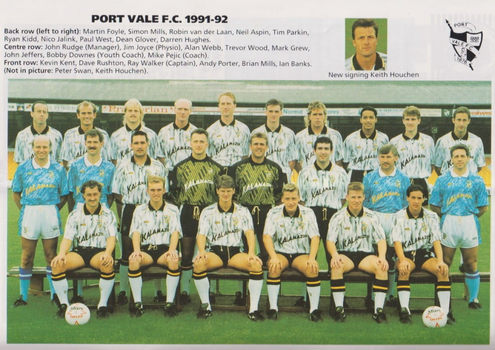 Port Vale 1991-92 team photo