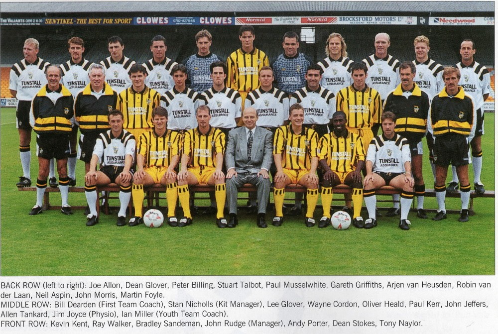Port Vale 1994-95 team line-up