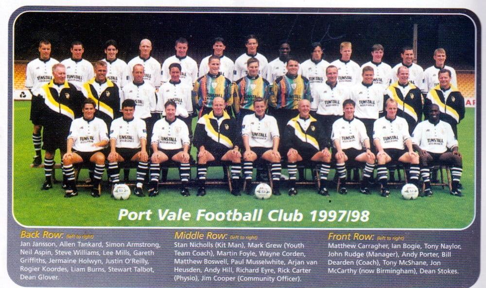 Port Vale 1997-98 team photo