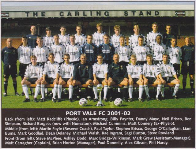 Port Vale 2001-02 team photo