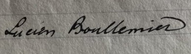 Matchwinner Lucien Boullemier's signature