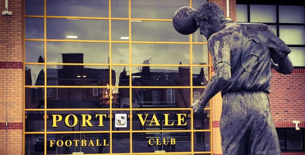 Vale Park stadium entrance
