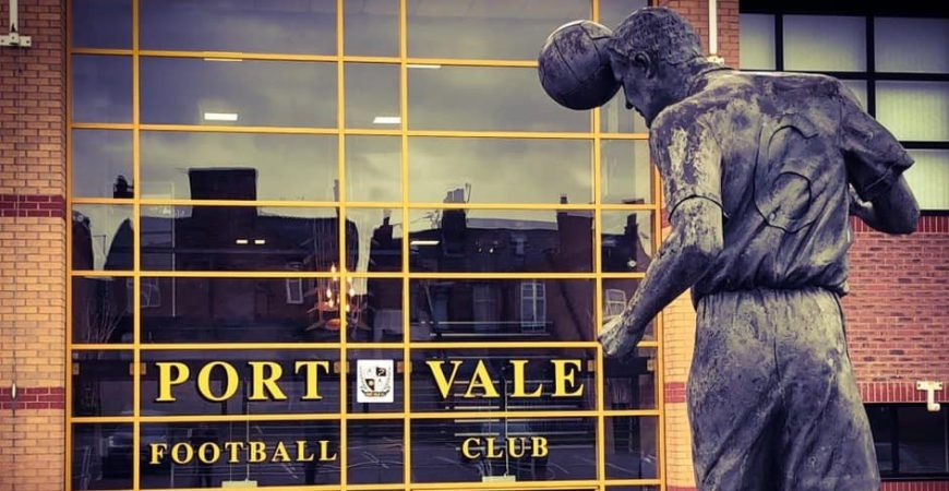 Vale Park stadium entrance