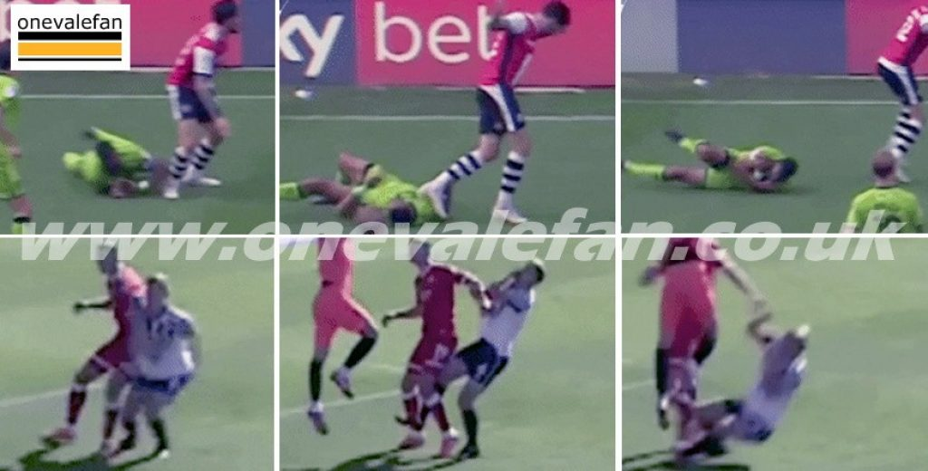 Stills of two incidents from the 2020/21 season