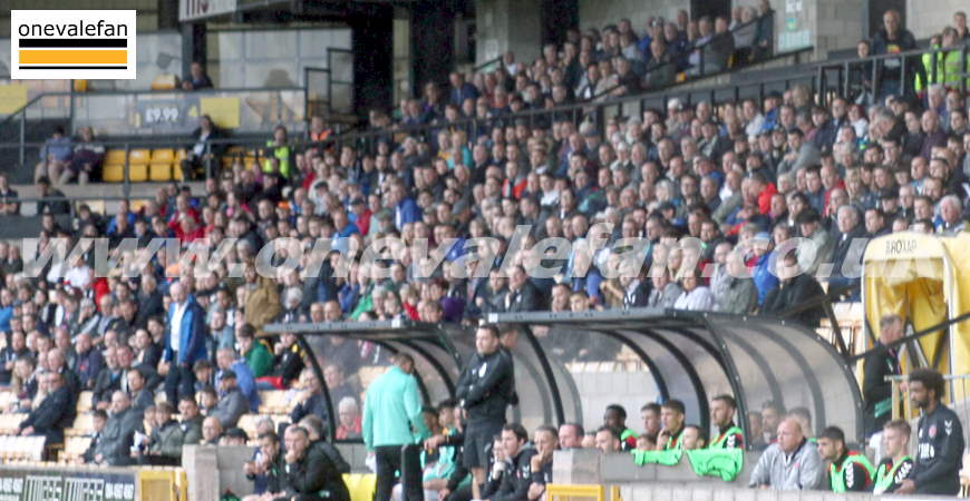 Port Vale supporters in the Lorne St stand