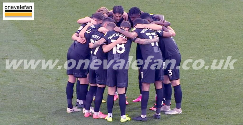 Port Vale team huddle before the Fleetwood game