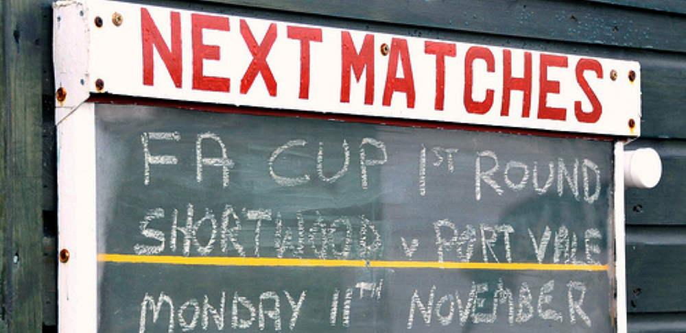 Sign: Shortwood Utd v Port Vale, 2013