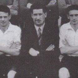 Ivor Powell with Port Vale players 1951