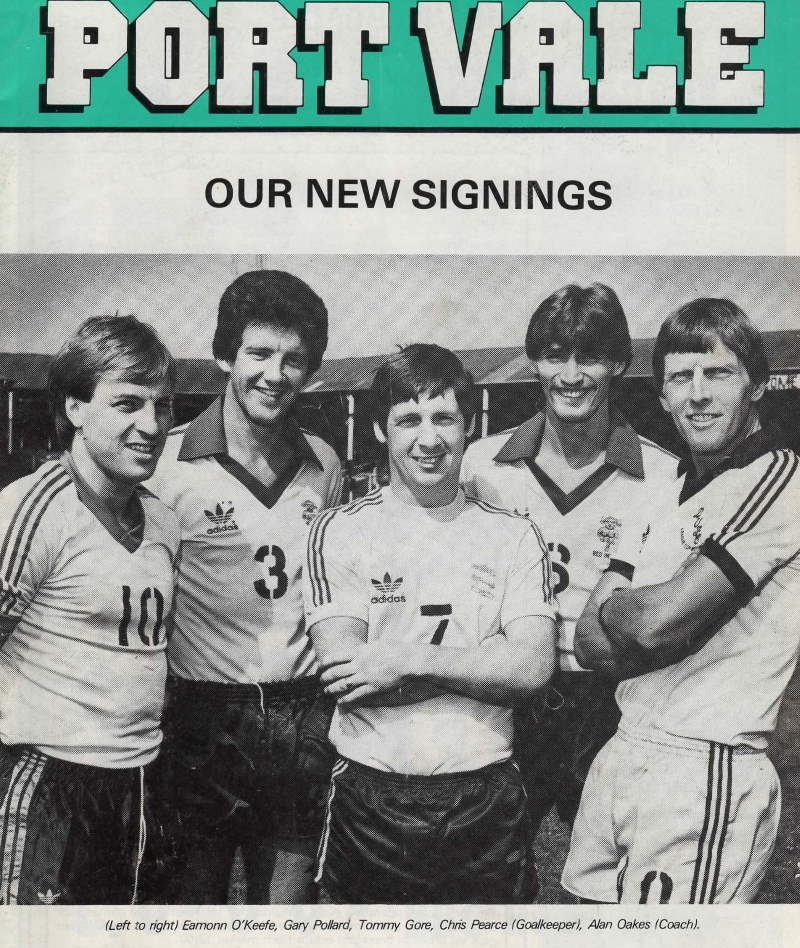 Port Vale's new signing for the 1983-84 season