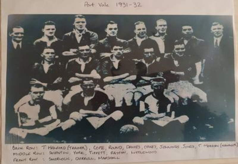 Port Vale 1931-32 team photo