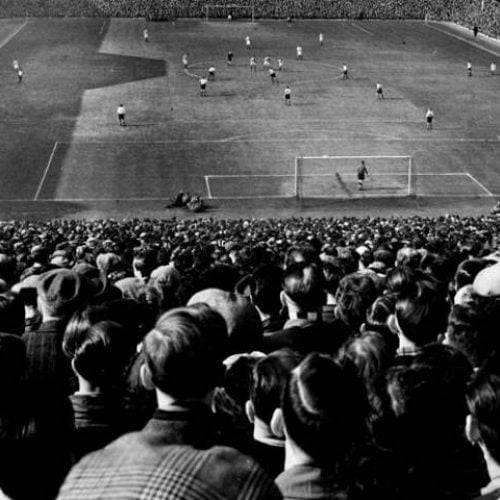 The crowd at the 1954 FA Cup semi-final at Villa Park