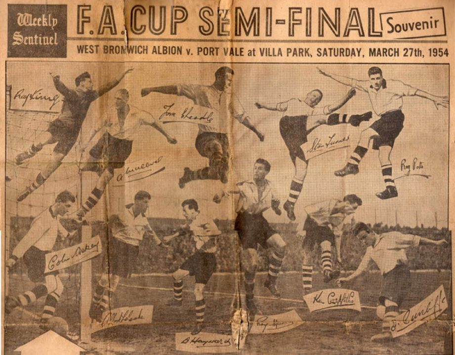 The Sentinel newspaper 1954 semi-final special