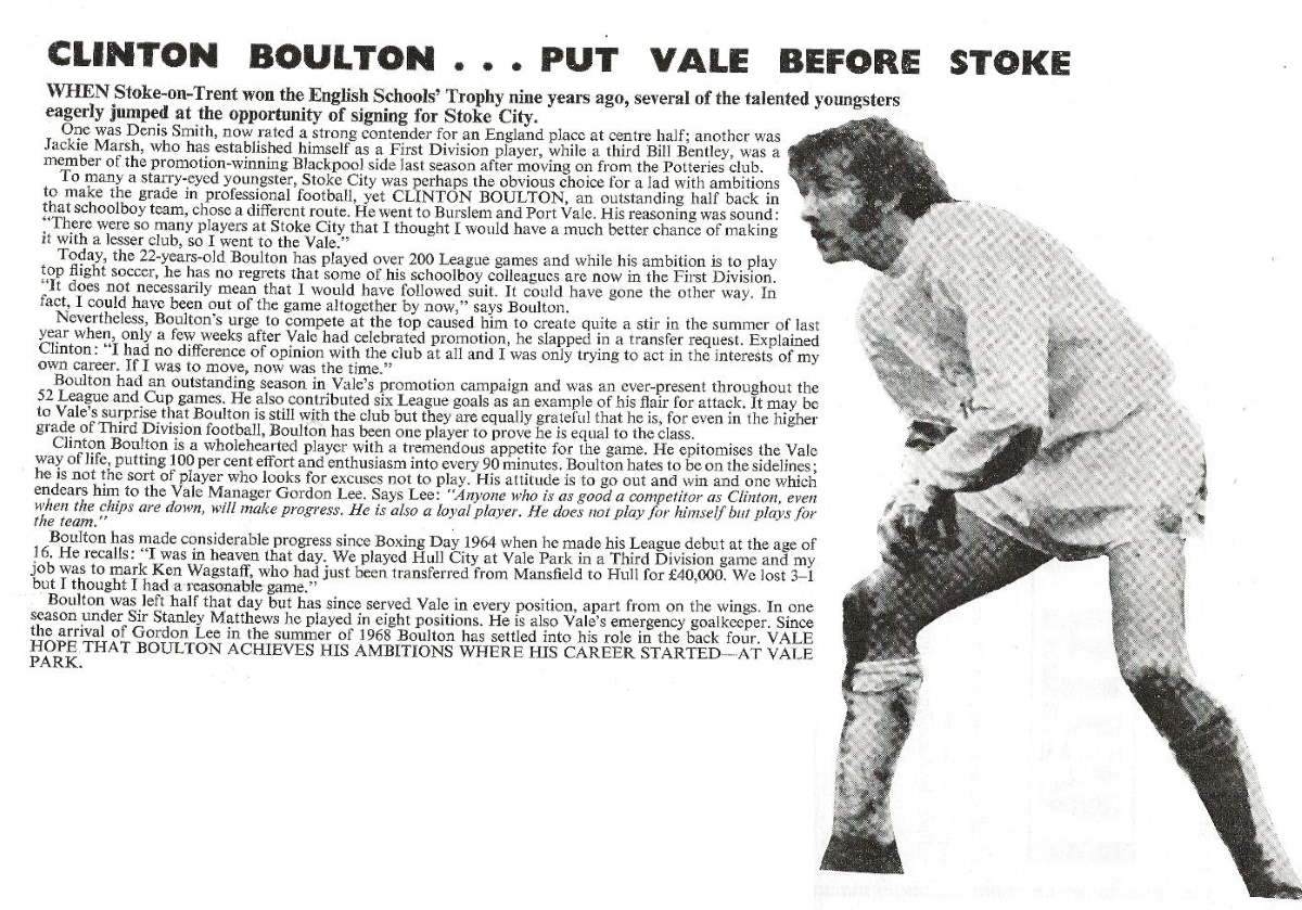 Clinton Boulton article