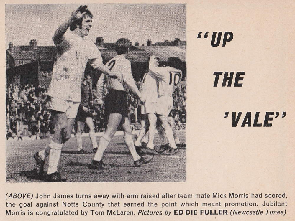 Port Vale players celebrate promotion in 1970