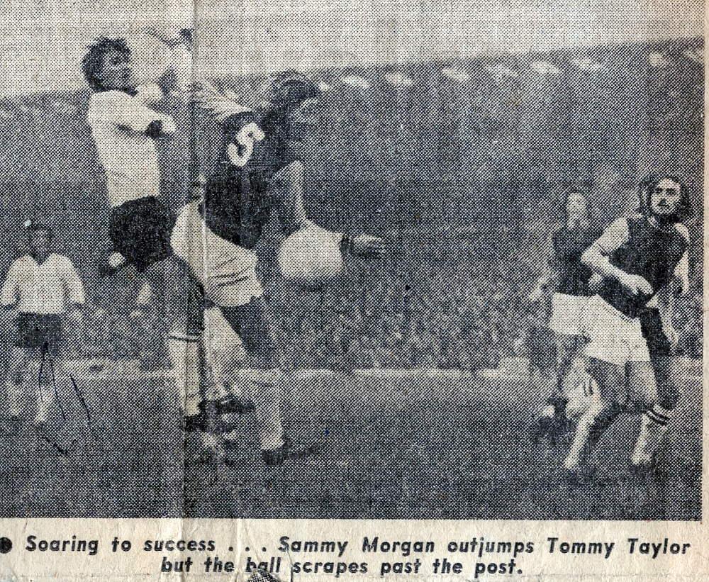 Sammy Morgan in action against West Ham 1973