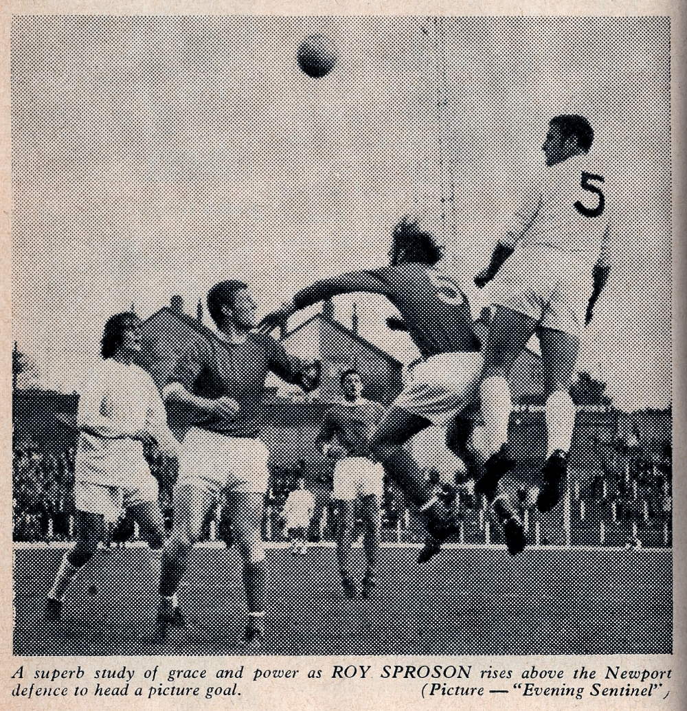 Roy Sproson in action against Newport County