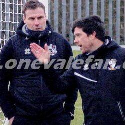 Port Vale management team David Flitcroft and Darrell Clarke