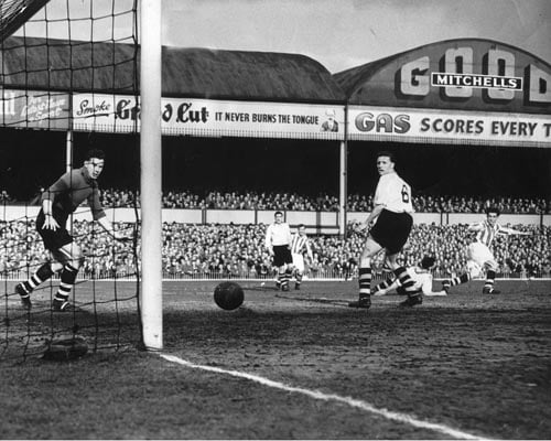 Port Vale in action in the 1954 FA Cup semi-final